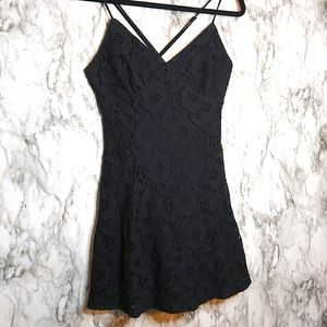 Forever 21 Lace Inspired Cross Strap Dress
